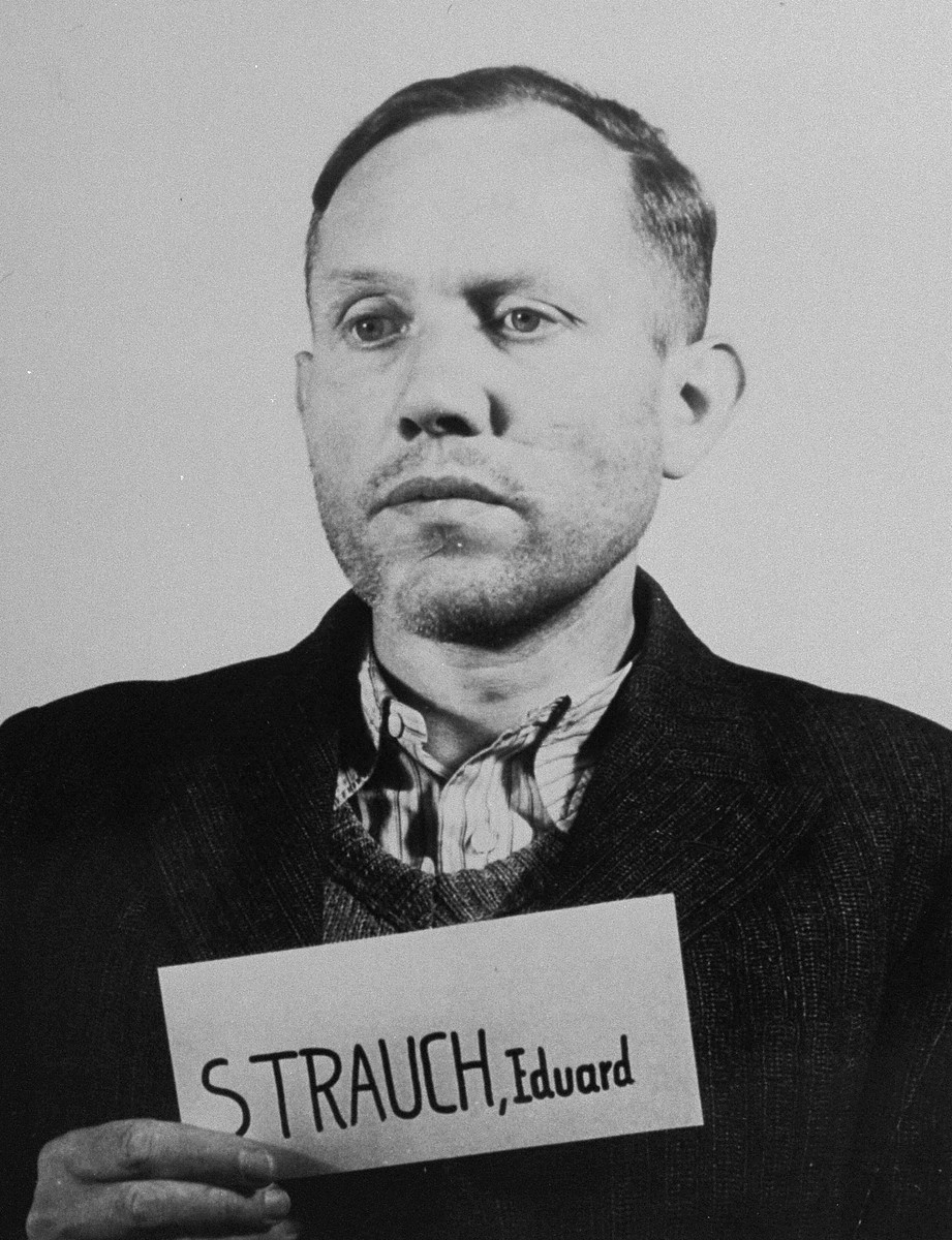 Defendant Eduard Strauch at the Einsatzgruppen Trial.  Strauch was the Commanding Officer of Einsatzkommando 2 of Einsatzgruppe A.