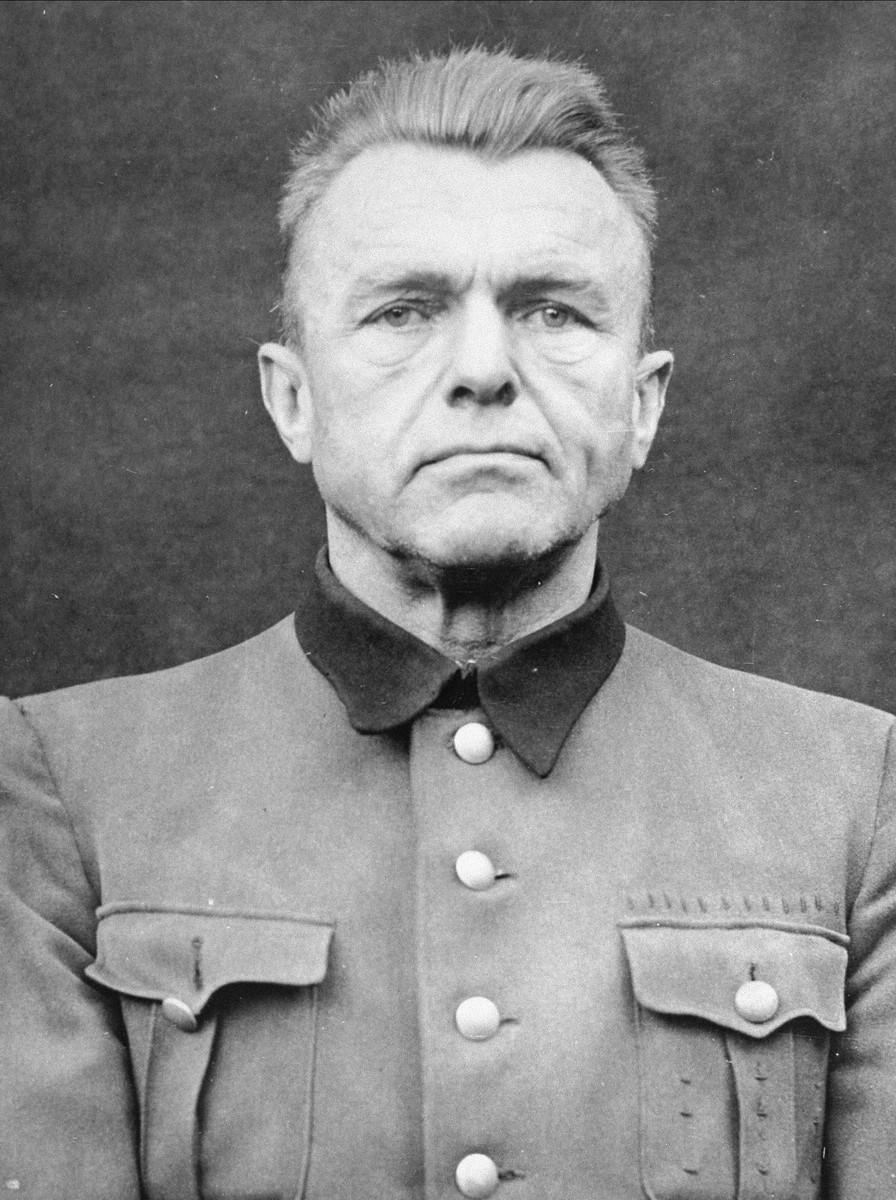 Portrait of Karl August Genzken as a defendant in the Medical Case Trial at Nuremberg.