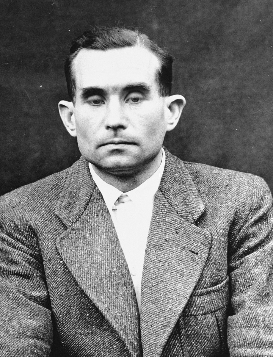 Portrait of Hermann Becker-Freising as a defendant in the Medical Case Trial at Nuremberg.
