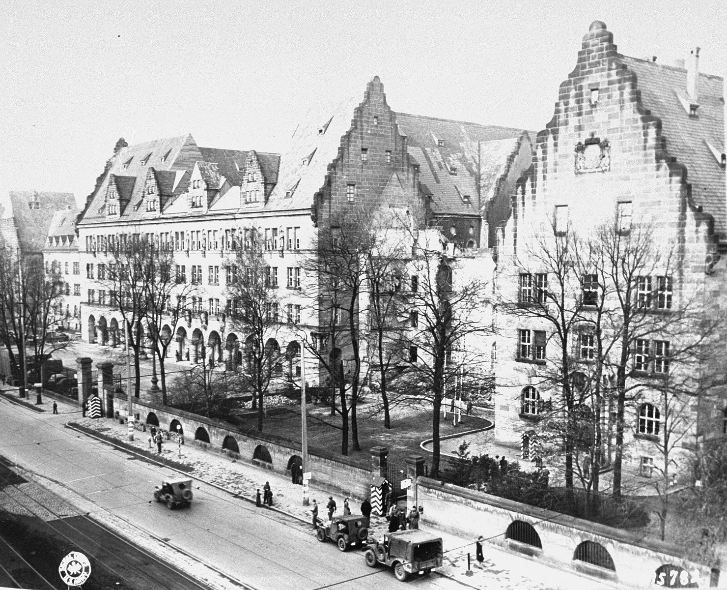 The Palace of Justice in Nuremberg, where the International Military Tribunal trial of war criminals was held.