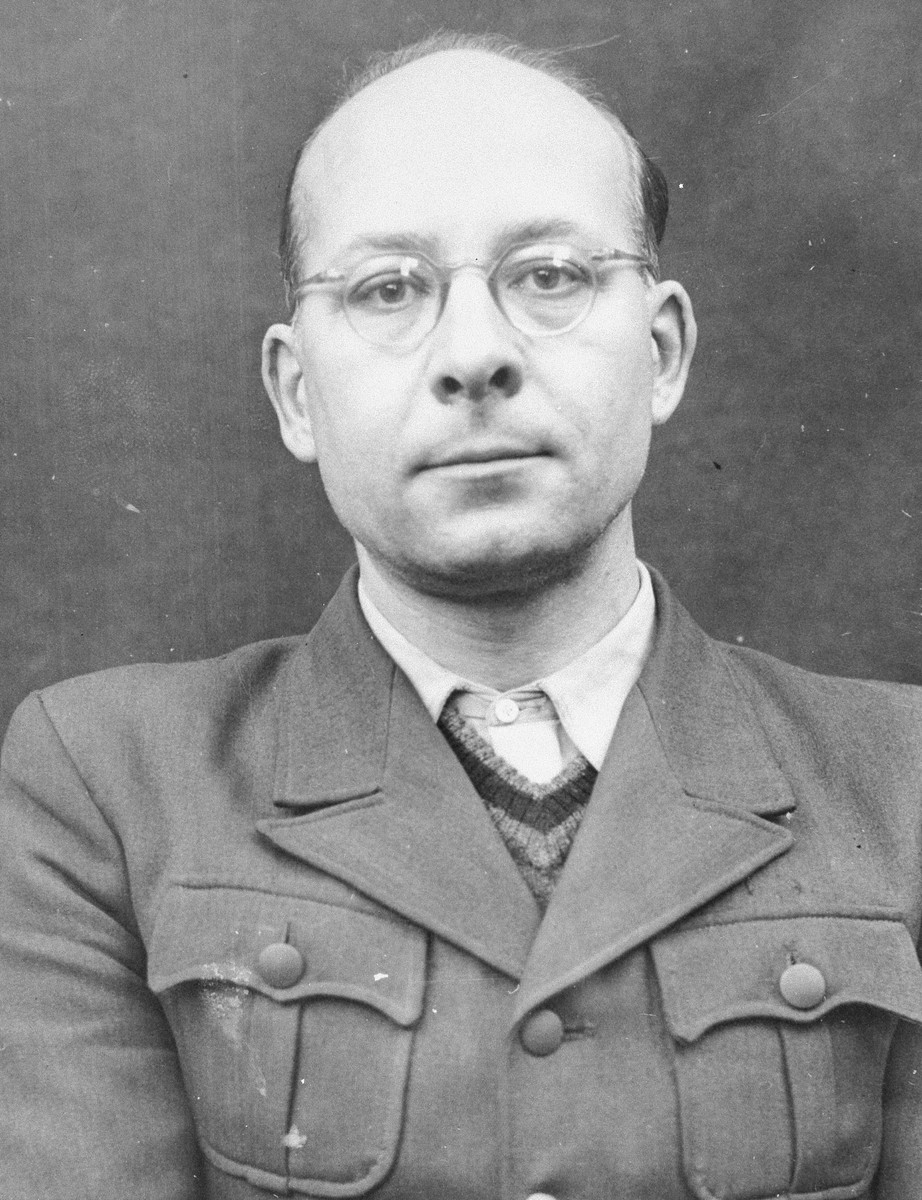 Portrait of Helmut Poppendick as a defendant in the Medical Case Trial at Nuremberg.