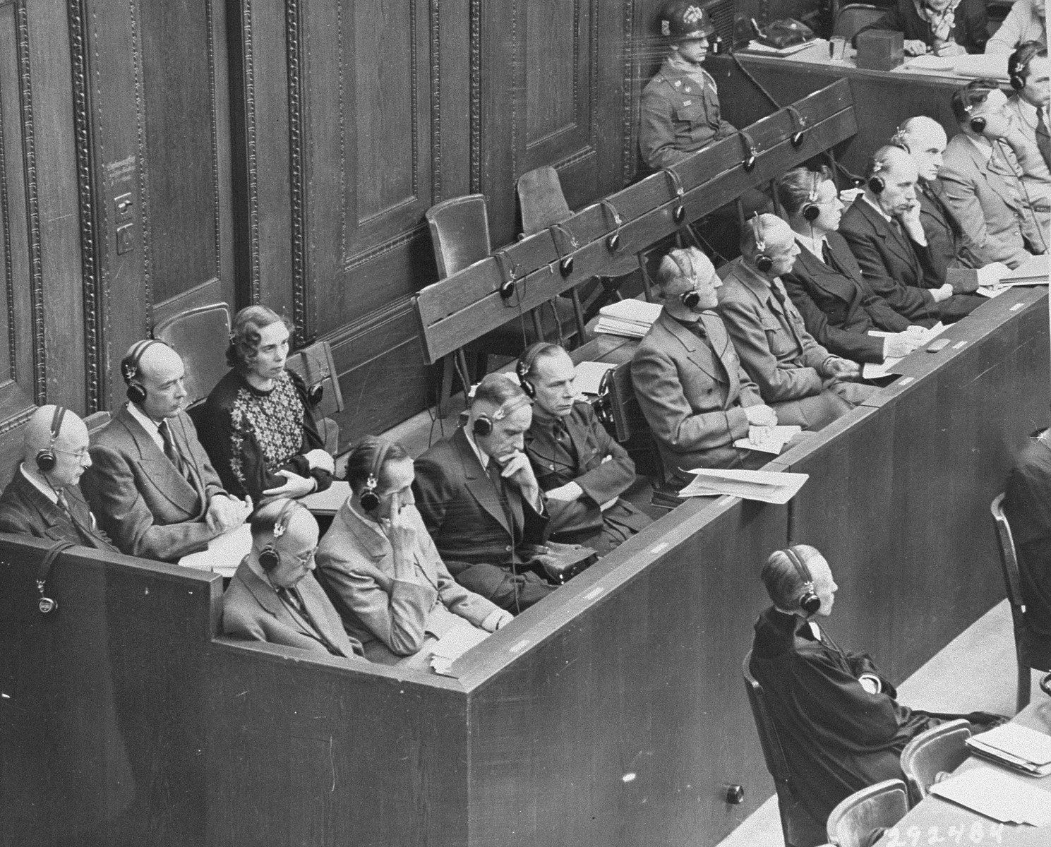 The defendants during their arraignment at the RuSHA Trial.