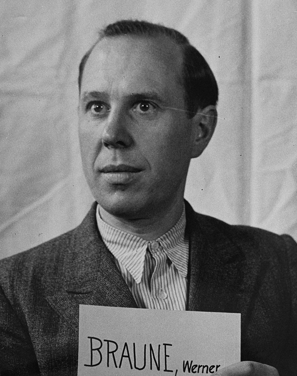 Mug-shot of defendant Werner Braune at the Einsatzgruppen Trial.