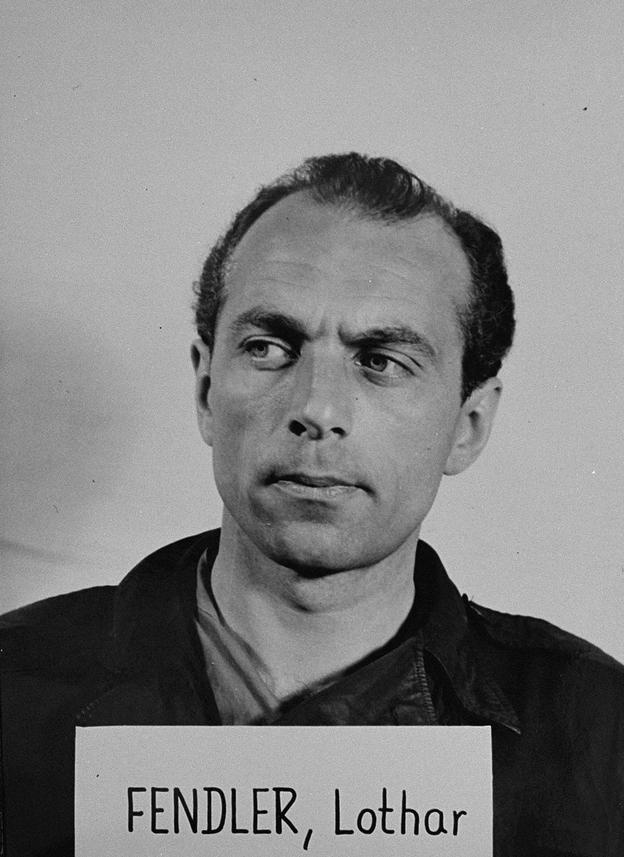 Defendant Lothar Fendler at the Einsatzgruppen Trial.  Fendler was the Deputy Chief of Sonderkommando 4b of Einsatzgruppe C.