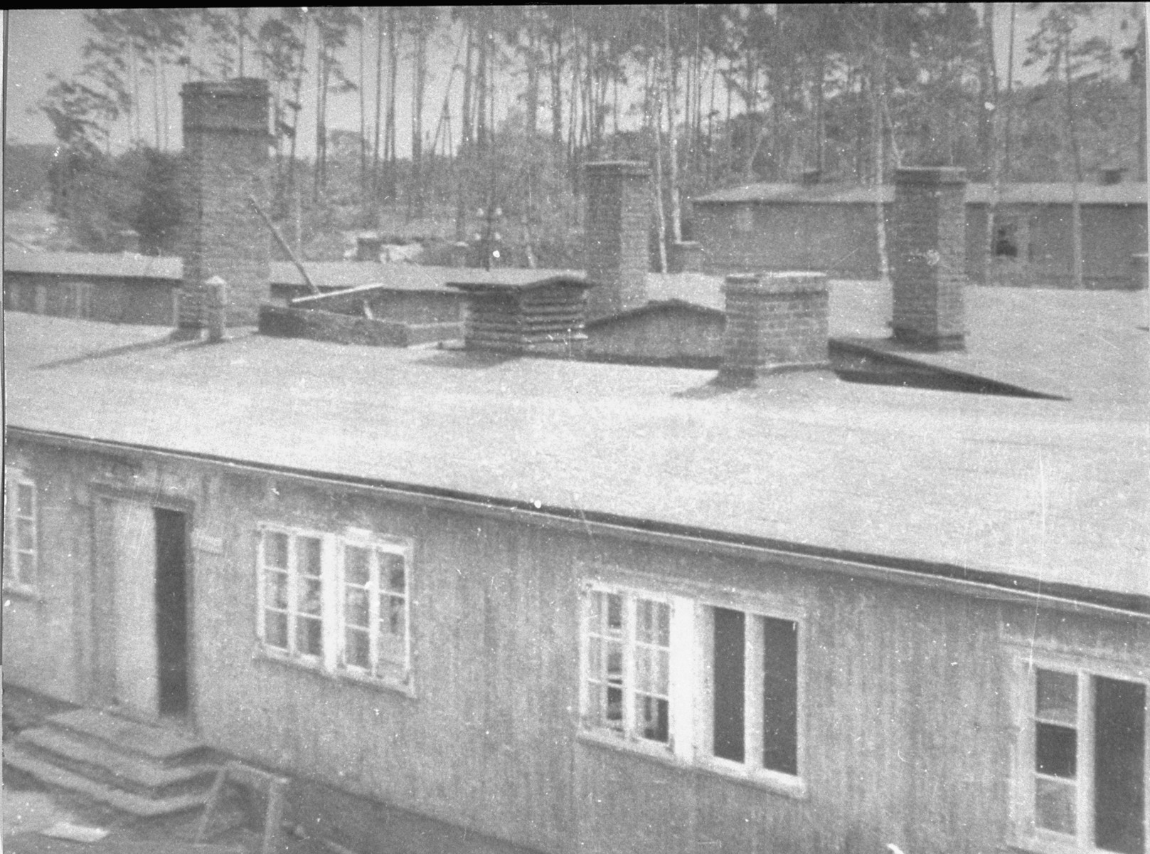 Barracks in the old section of the camp.