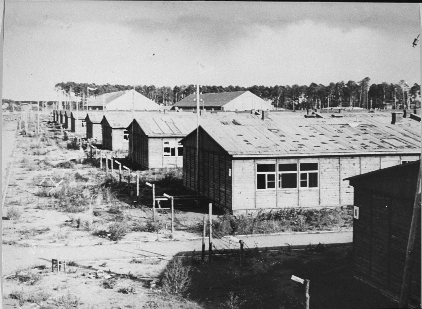 View of the Stutthof concentration camp after the liberation.
