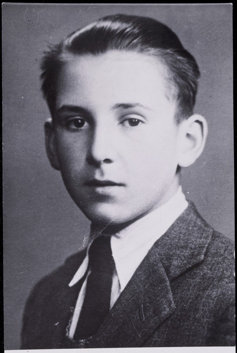 Portrait of diarist Otto Wolf as a boy.