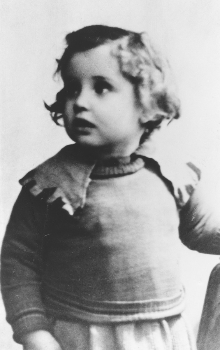 Portrait of two-year-old Judis Baehr, taken right before she was placed in a Jewish nursing home.