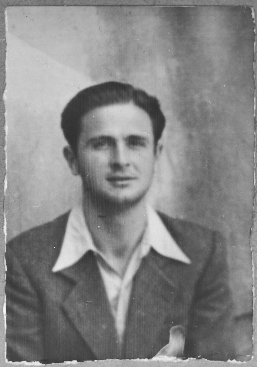 Portrait of Isak Sarfati, son of Yakov Sarfati.  He lived at Dalmatinska 70 in Bitola.