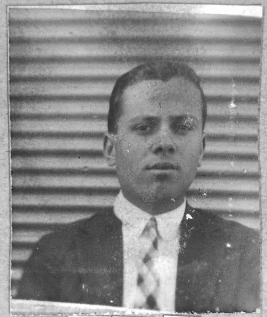 Portrait of Mordechai Russo, son of Isak Russo.  He lived at Ferizovatska 30 in Bitola.
