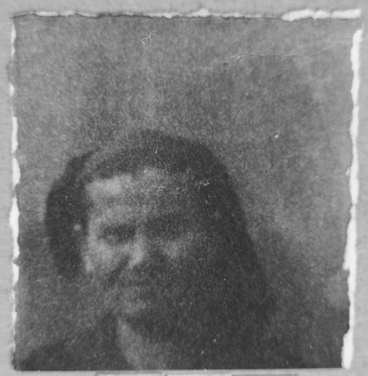 Portrait of Bohora Sadik.  She lived at Gen. Boyevitsa in Bitola.