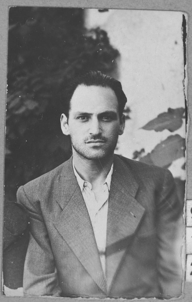 Portrait of Jak Russo, son of Menachem Russo.