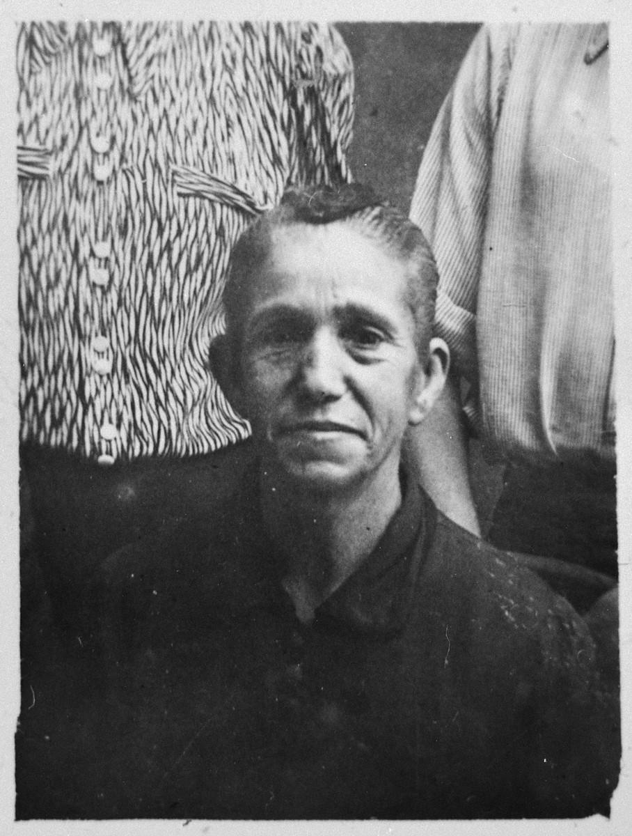 Portrait of Sol Russo, wife of Yakov Russo.  She lived at Gostivarska 5 in Bitola.