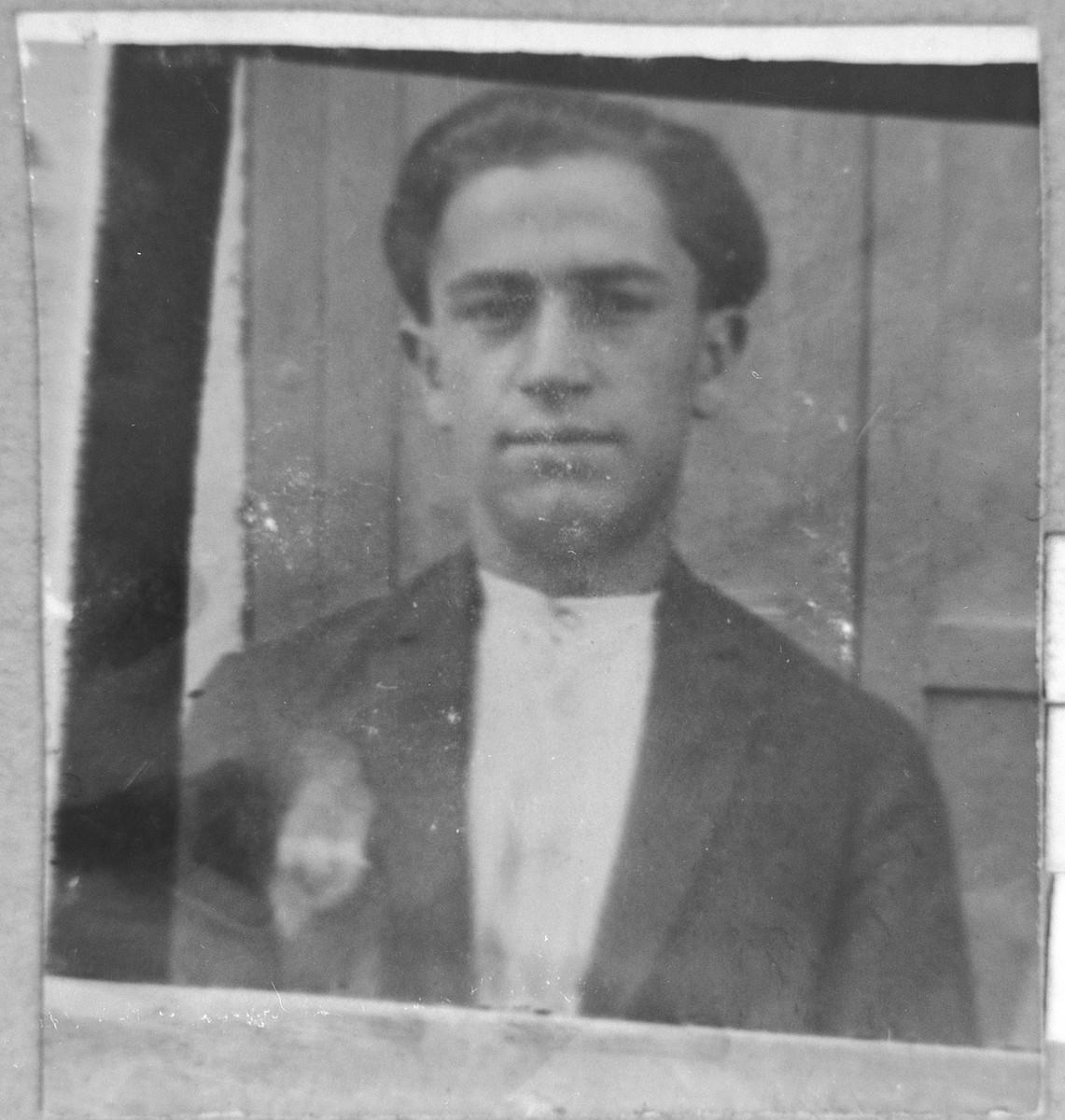 Portrait of Moshe (M.) Sarfati.