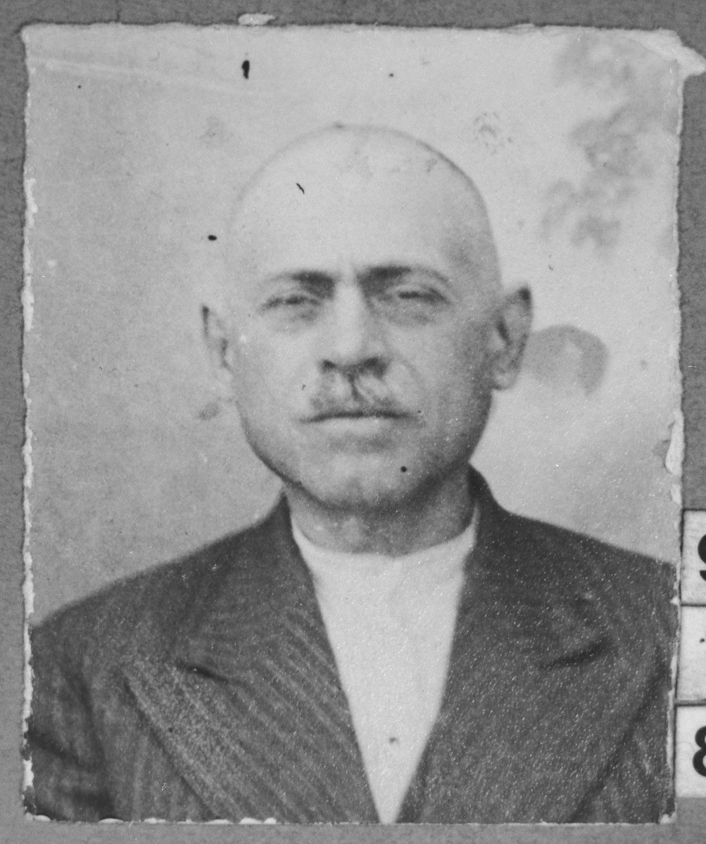 Portrait of David Russo, son of Mordechai Russo.  He was a wine merchant.  He lived at Ferizovatska 30 in Bitola.