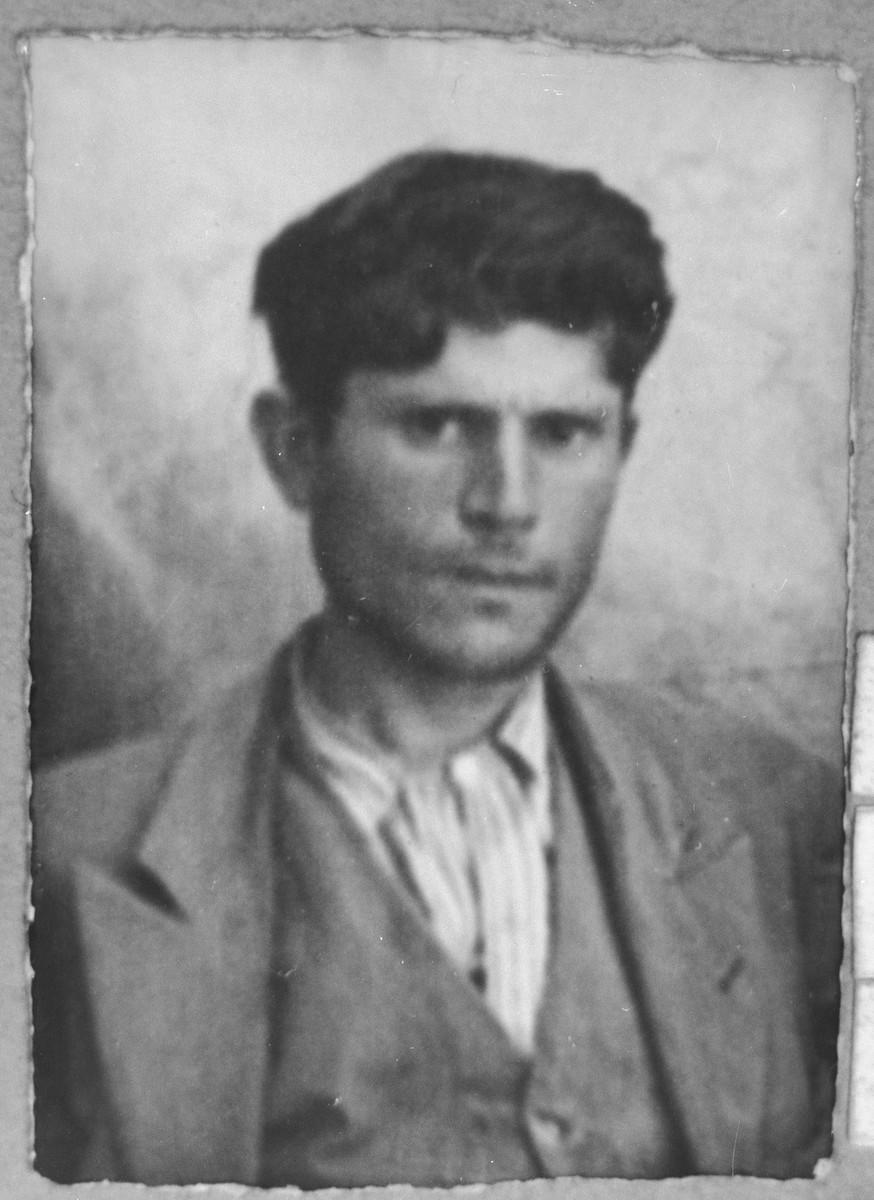 Portrait of Haim Sadik.  He lived at Drinska 20 in Bitola.