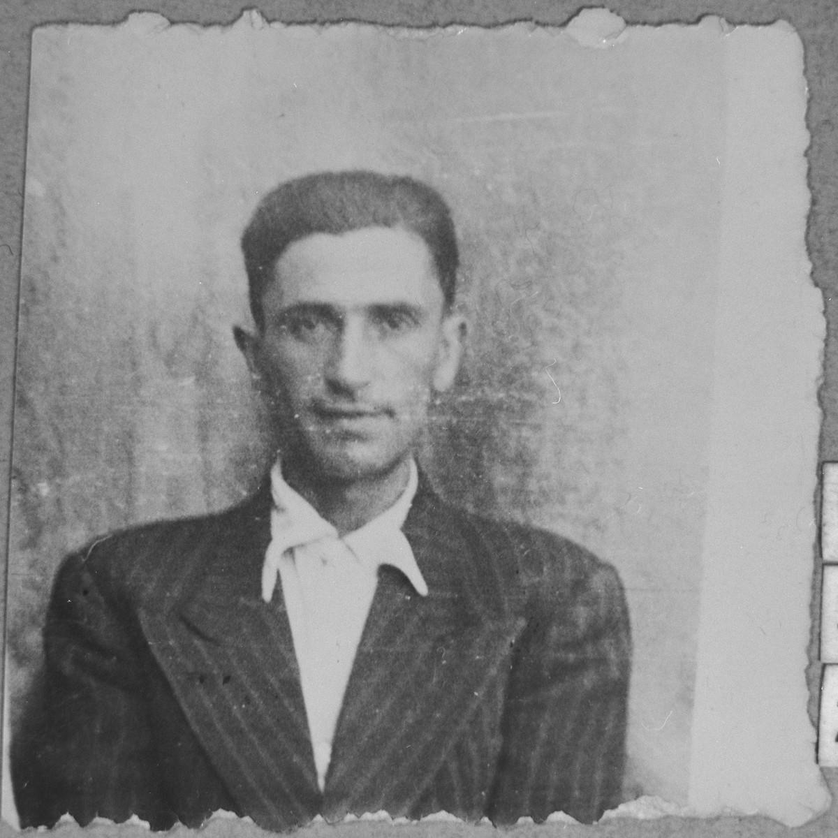 Portrait of Mati Sarfati, son of Mushon Sarfati.  He was a rag dealer.  He lived at Davidova 15 in Bitola.