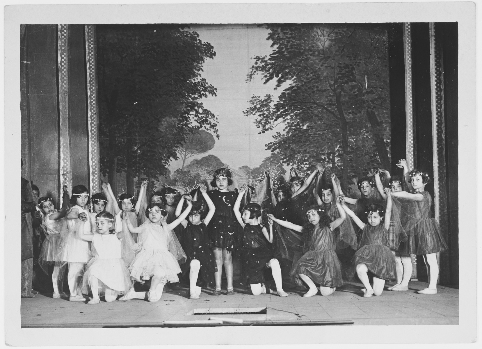 Dance recital at the school where Lina Zarfatti taught.