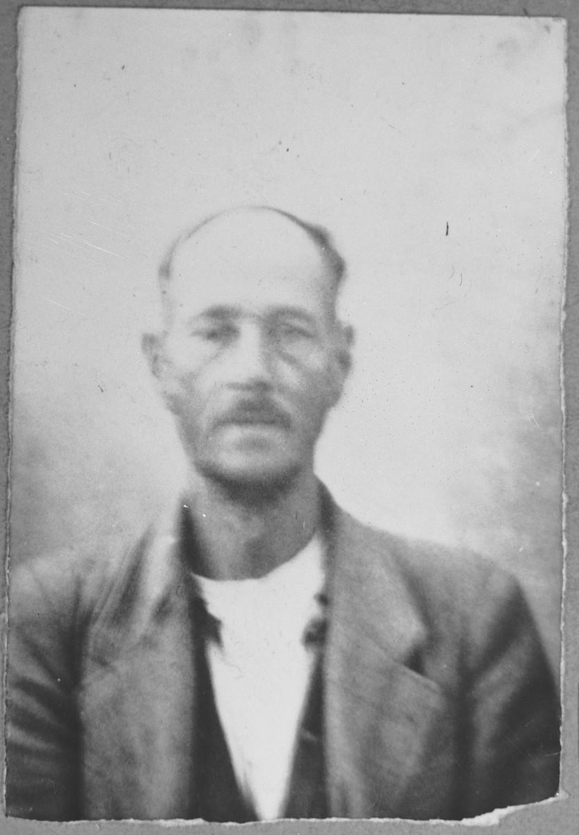 Portrait of Solomon Skayo.  He was a sackmaker.  He lived at Orisarska 13 in Bitola.
