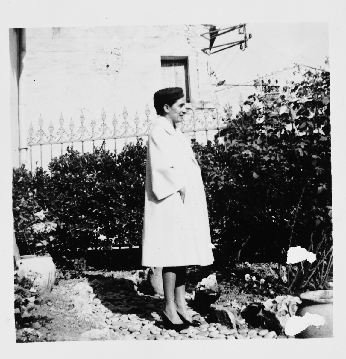 Profile of French rescuer Marie Antoinette Pallarès at her home in Montpellier.  Pallarès, along with her three children, was recognized by Yad Vashem as one of the Righteous Among the Nations.