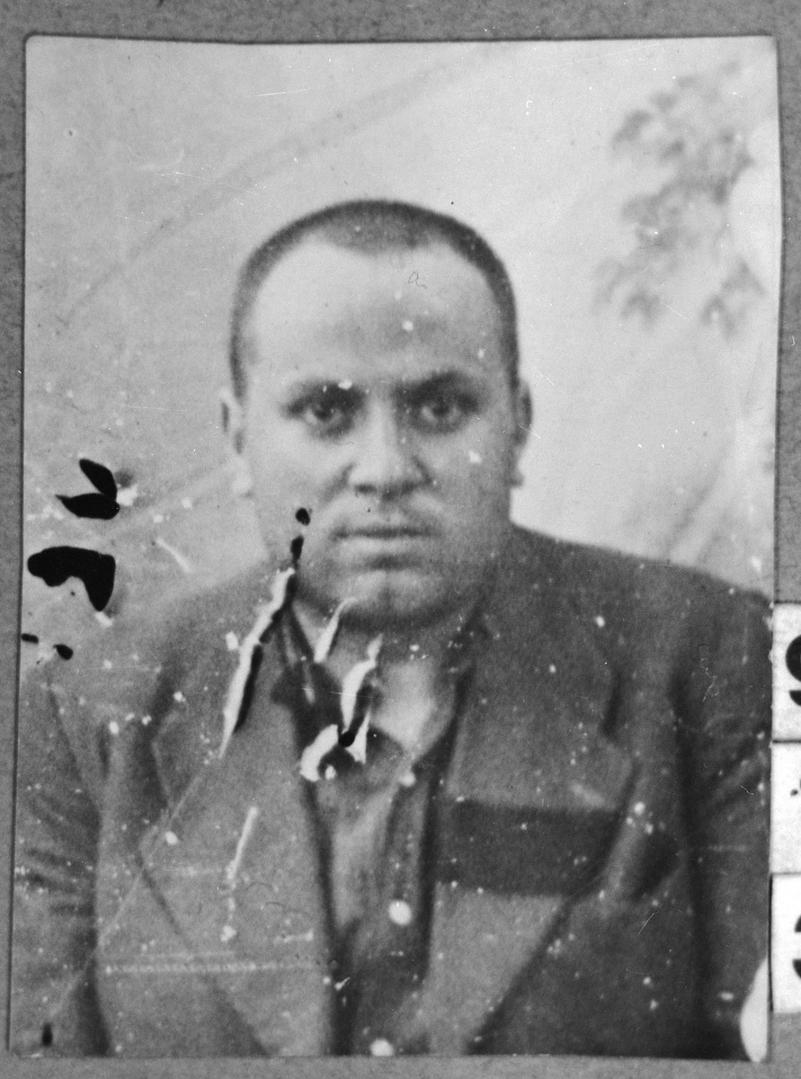 Portrait of Mordechai Russo, son of Isak Russo.  He lived at Ferizovatska 30 in Bitola.