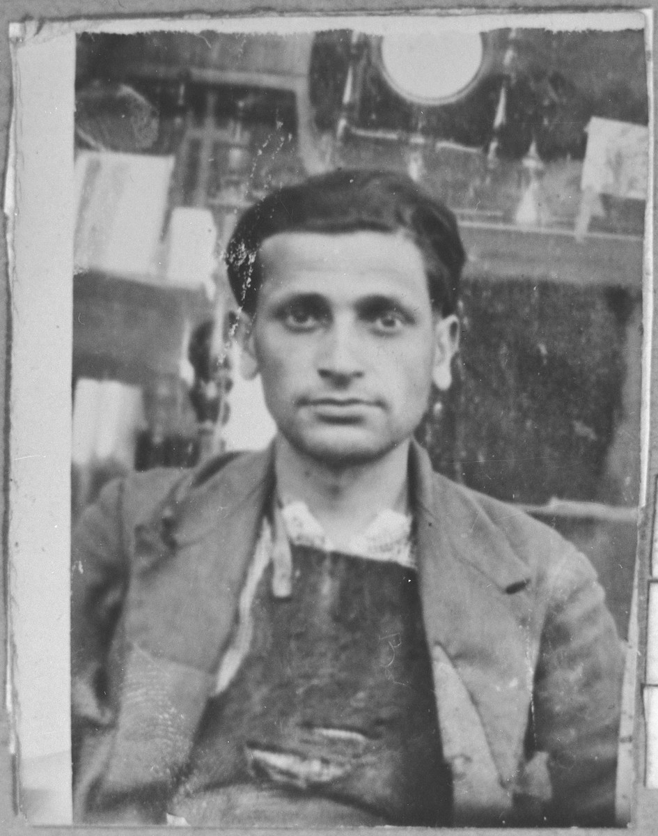 Portrait of Nissim Sarfati, son of Mushon Sarfati.  He was a rag dealer.  He lived at Davidova 9 in Bitola.