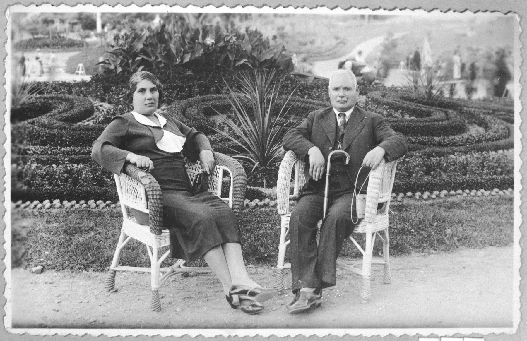 Portrait of Menachem Russo and his wife Furtuna.  Menachem was a manufacturer.  They lived at Boulevar 104 in Bitola.