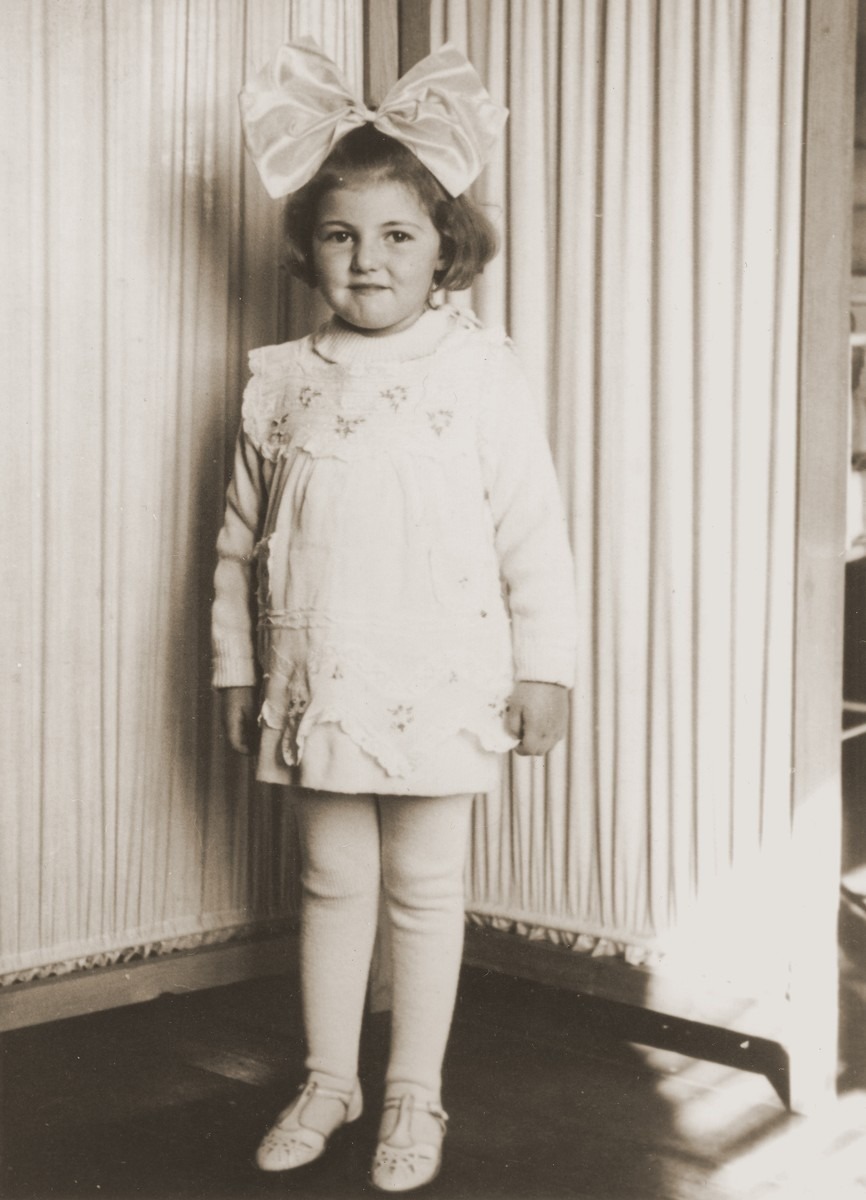Portrait of Celina Berkowitz while in hiding in a Polish orphanage in Czestochowa.