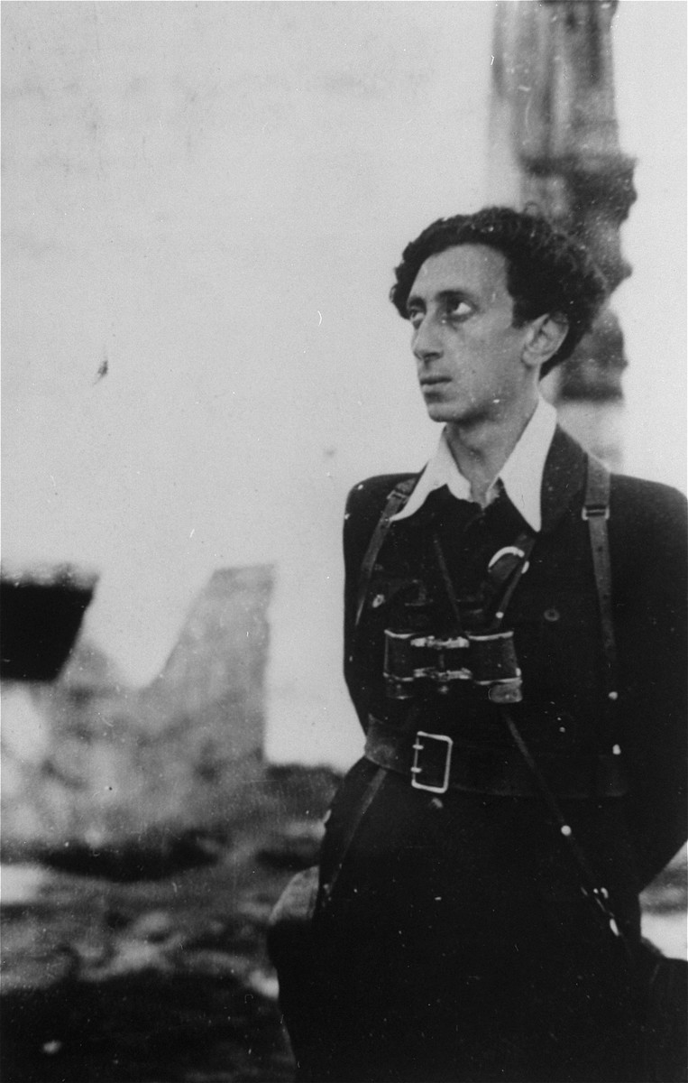 Abba Kovner in Vilna after the fall of the city to the Red Army.