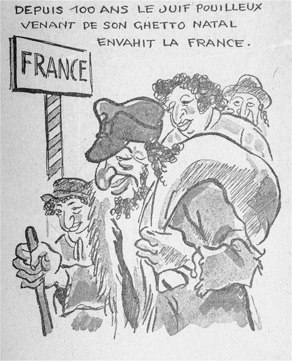 One of a series of cartoons from a French language, anti-Jewish