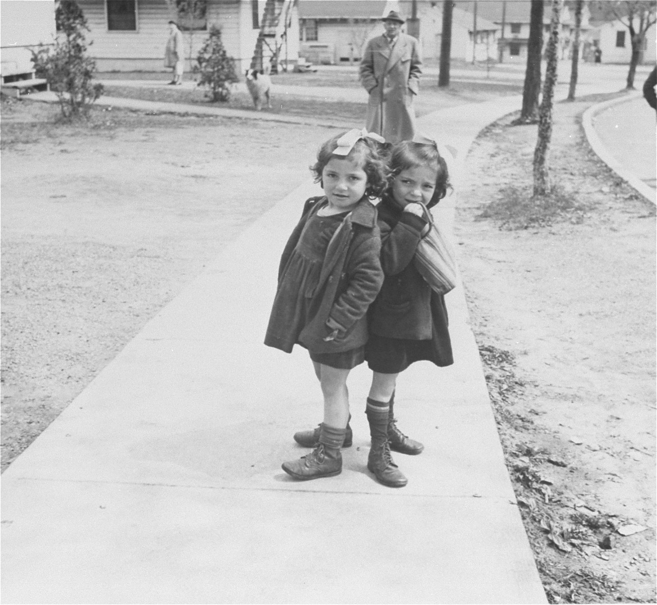 Two young residents at the Fort Ontario Refugee center.