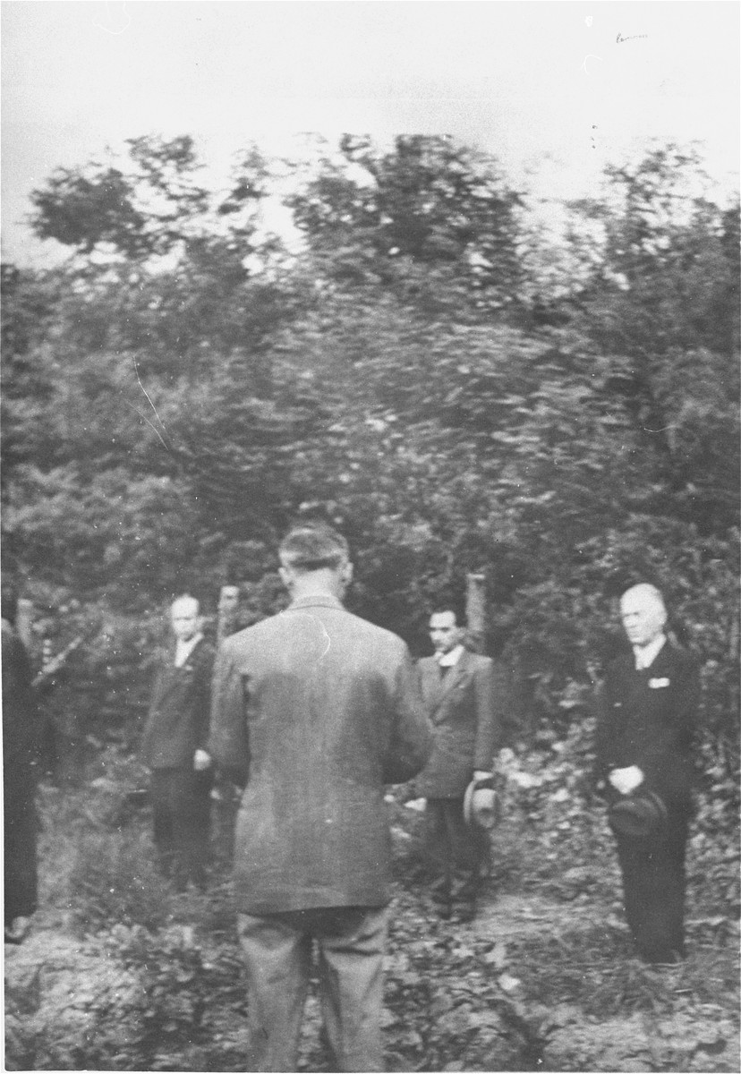 The execution of Marshall Ion Antonescu, former dictator of Romania (1940-1944) at the Fort Jilava prison in a suburb of Bucharest.    He was executed along with three others: Mihai Antonescu (the former vice-president and minister of foreign affairs), Gheorge Alexianu (former governor of Transnistria), and General C.Z. Vasiliu (former deputy minister of interior affairs and head of the gendarmerie).
