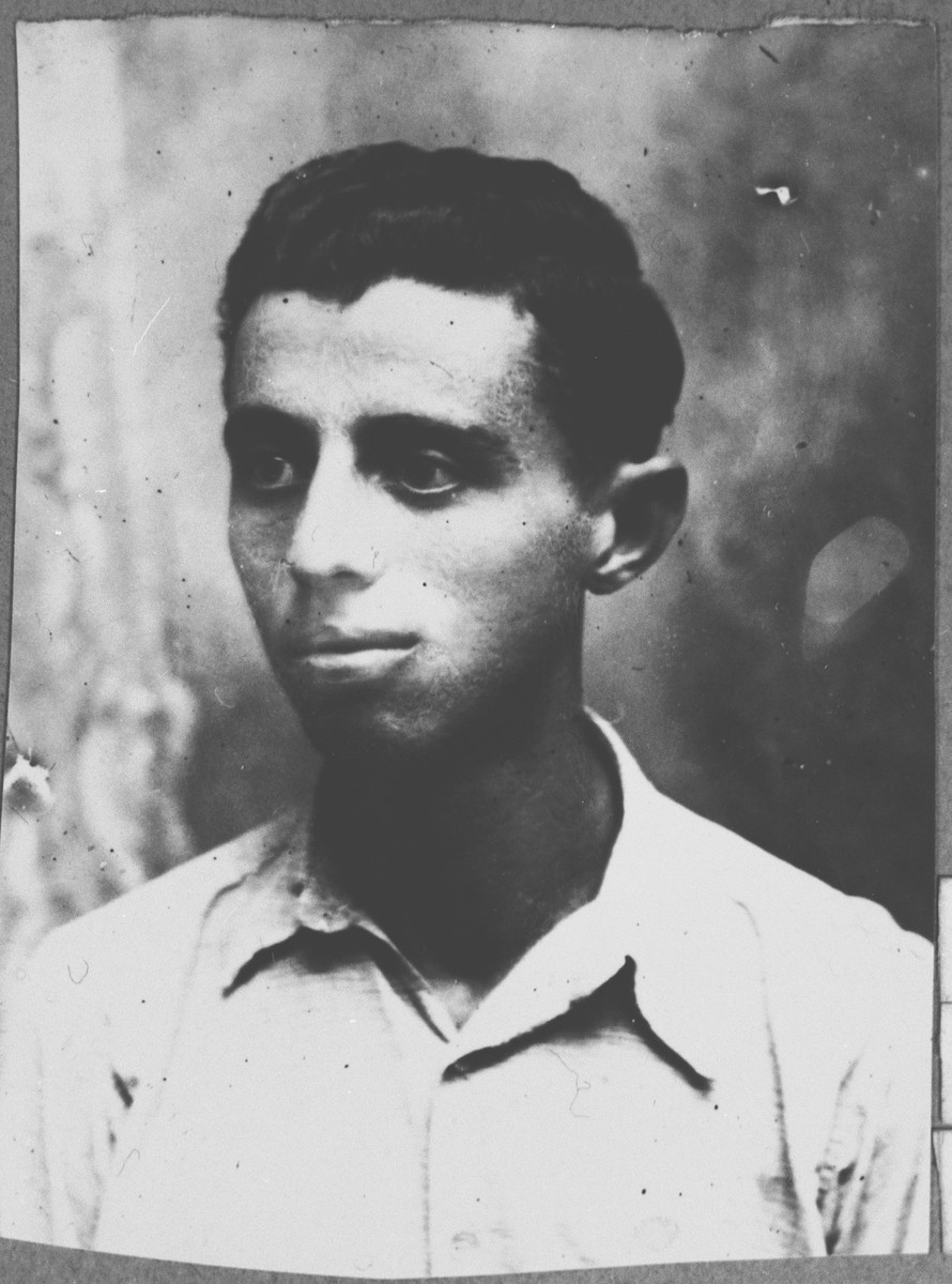 Portrait of Rufel Kamchi, son of Peris Kamchi.  He was a student.  He lived at Asadbegova 9 in Bitola.