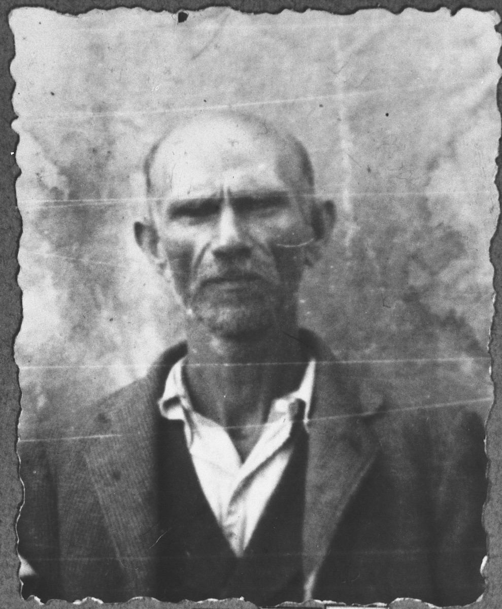 Portrait of Peris Kamchi.  He was a plumber.  He lived at Asadbegova 9 in Bitola.