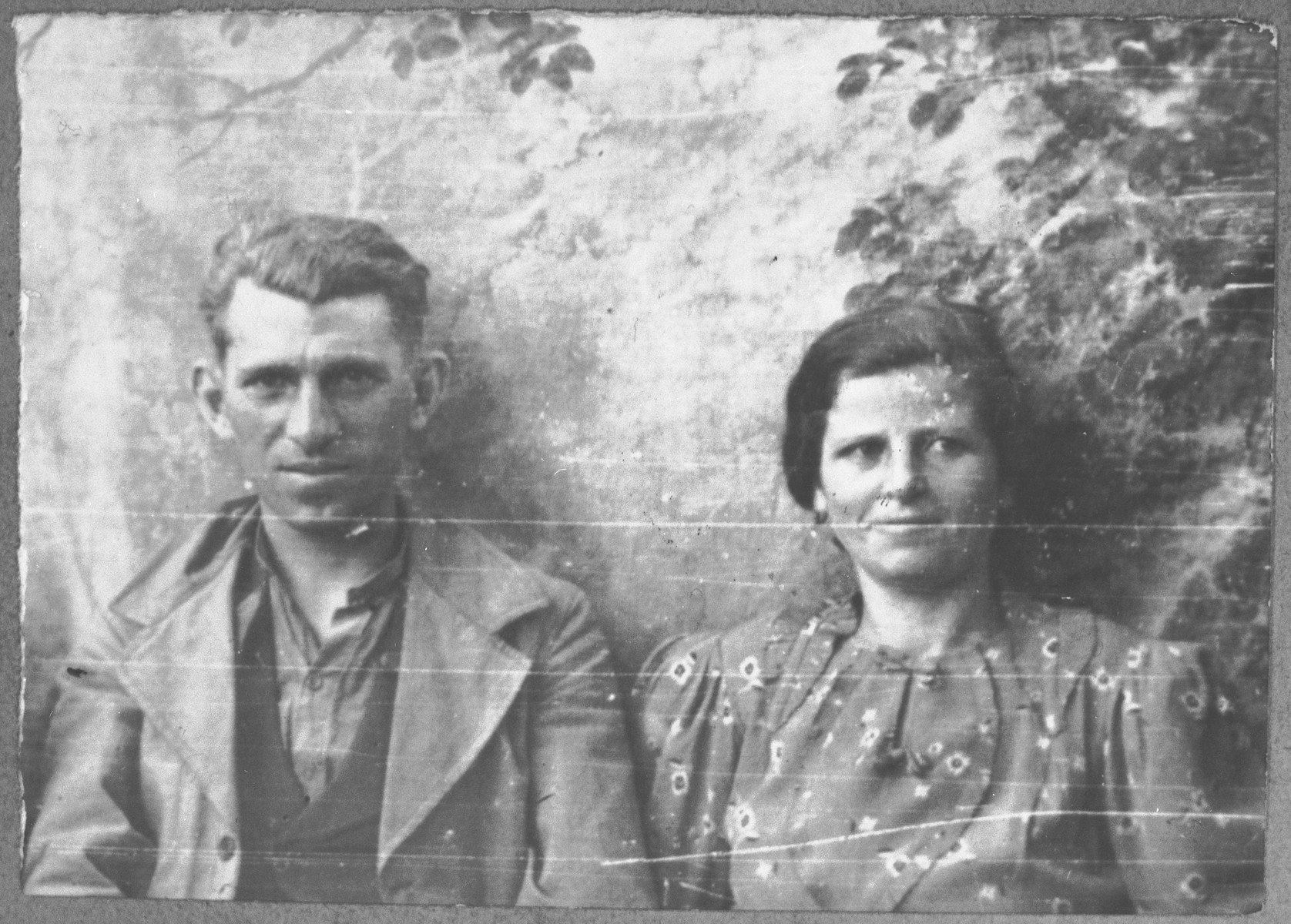 Portrait of Gabriel Kamchi, son of Mushon Kamchi and his wife, Klara.  He was a coachman.  They lived at Krstitsa 3 in Bitola.