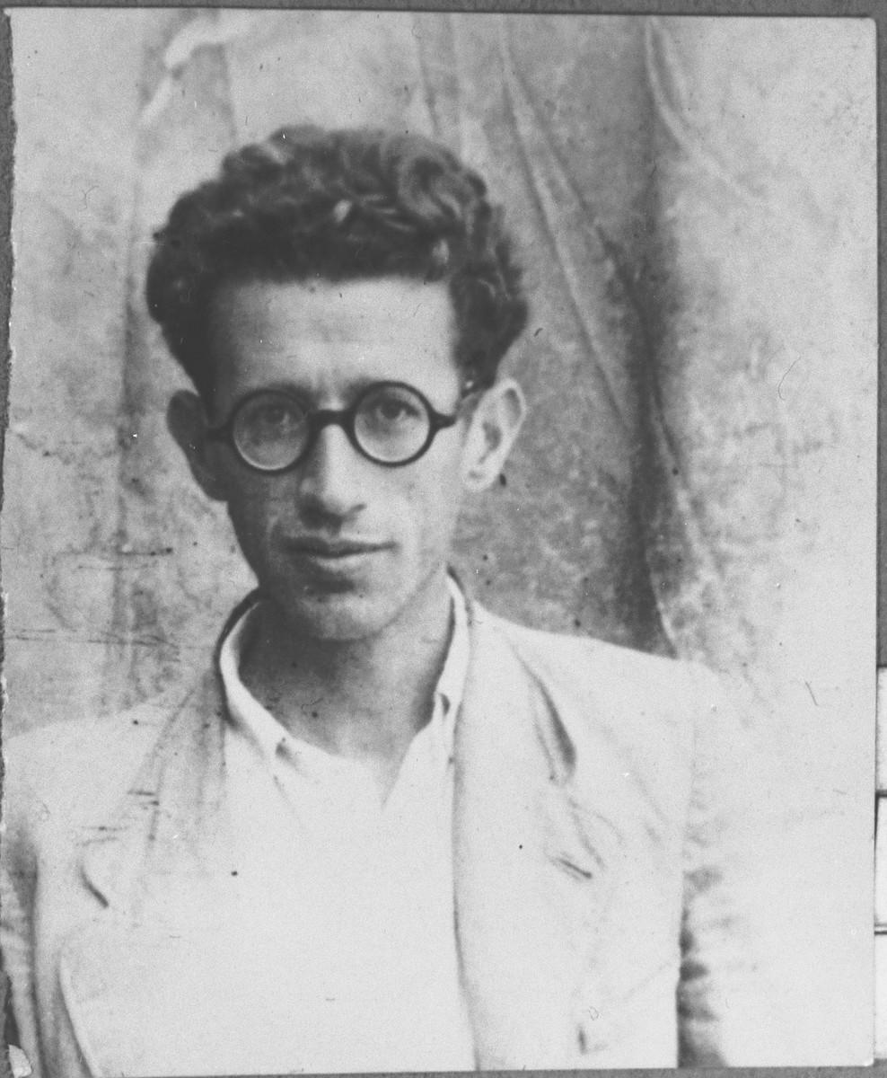 Portrait of Mois Kamchi, son of Mentesh Kamchi.  He lived at Banatska 11 in Bitola.