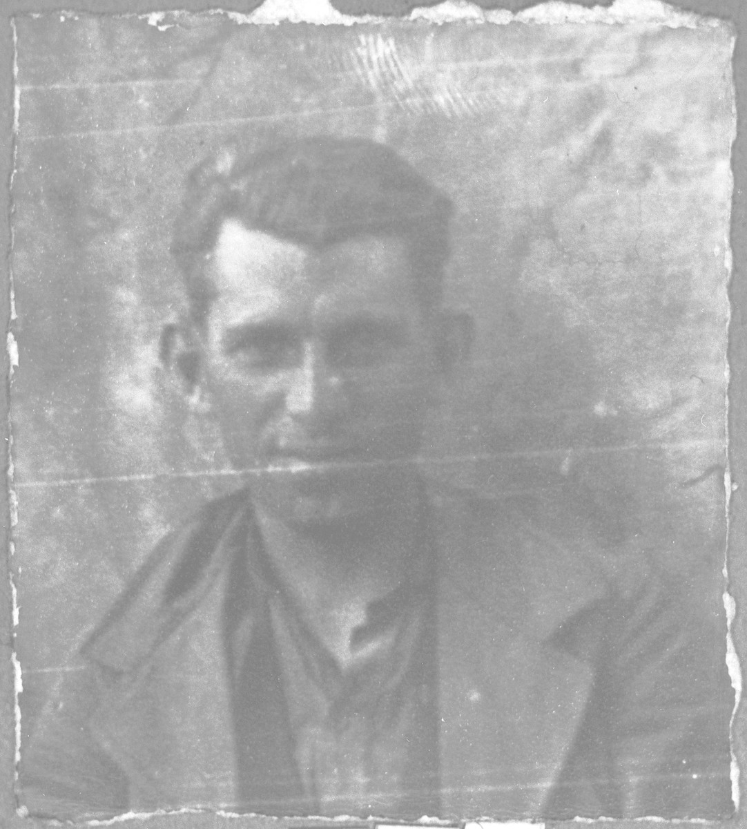 Portrait of Gabriel Kamchi, son of Mushon Kamchi.  He was a coachman.  He lived at Krstitsa 3 in Bitola.