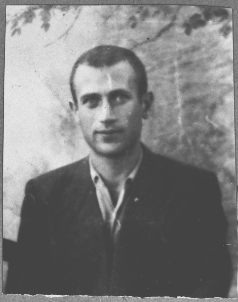 Portrait of Yosef Kamchi, son of Mentesh Kamchi.  He lived at Banatska 11 in Bitola.