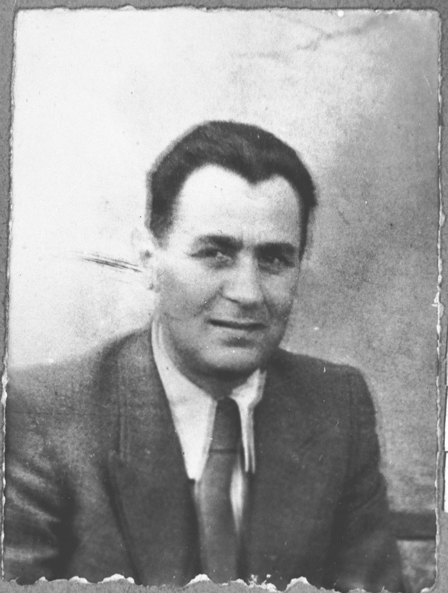 Portrait of Mois Kamchi, son of Solomon Kamchi.  He was an auto dealer.  He lived at Karagoryeva 107 in Bitola.