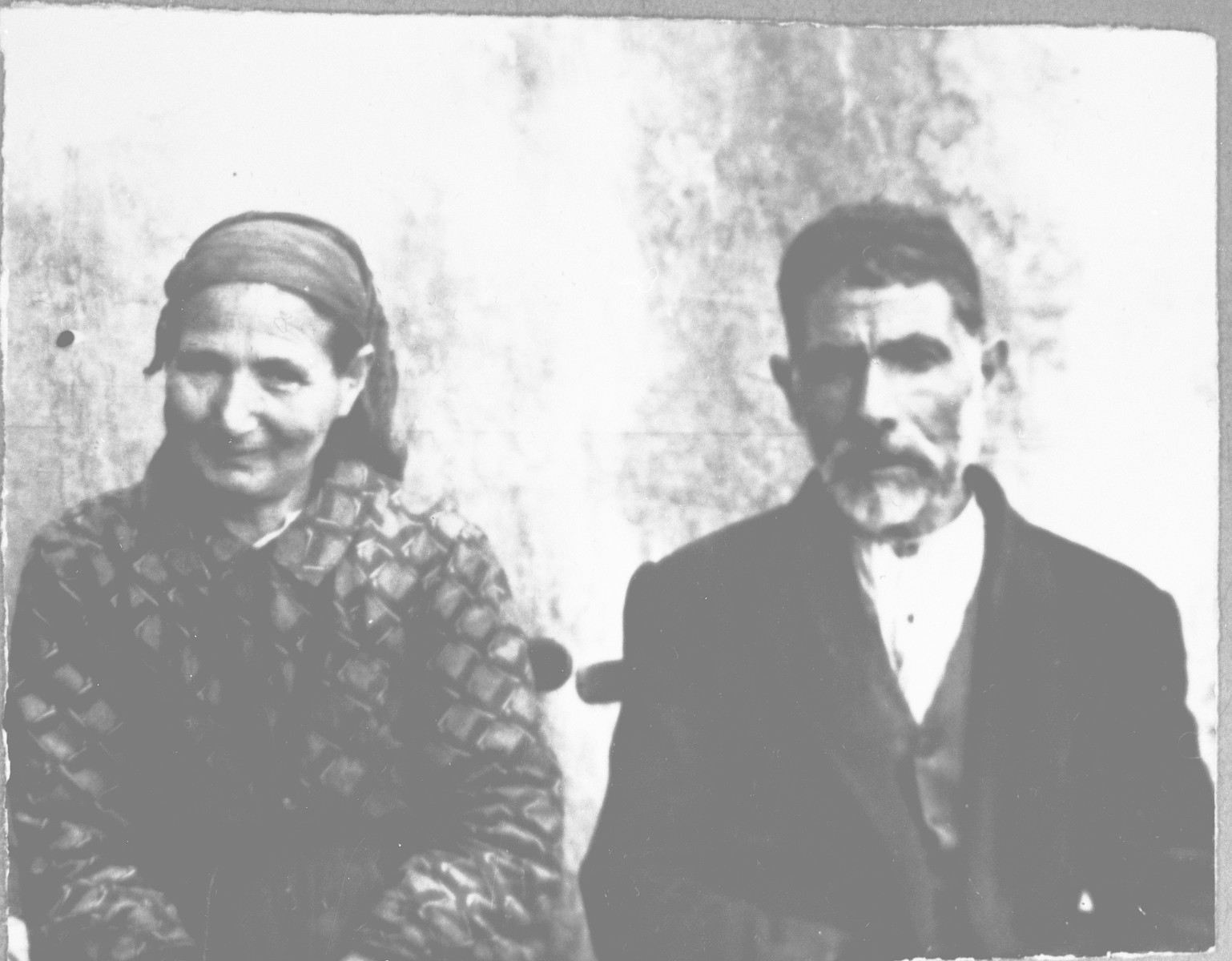 Portrait of Mentesh Kamchi and his wife, Luna.  He was a greengrocer.  They lived at Skopyanska 52 in Bitola.