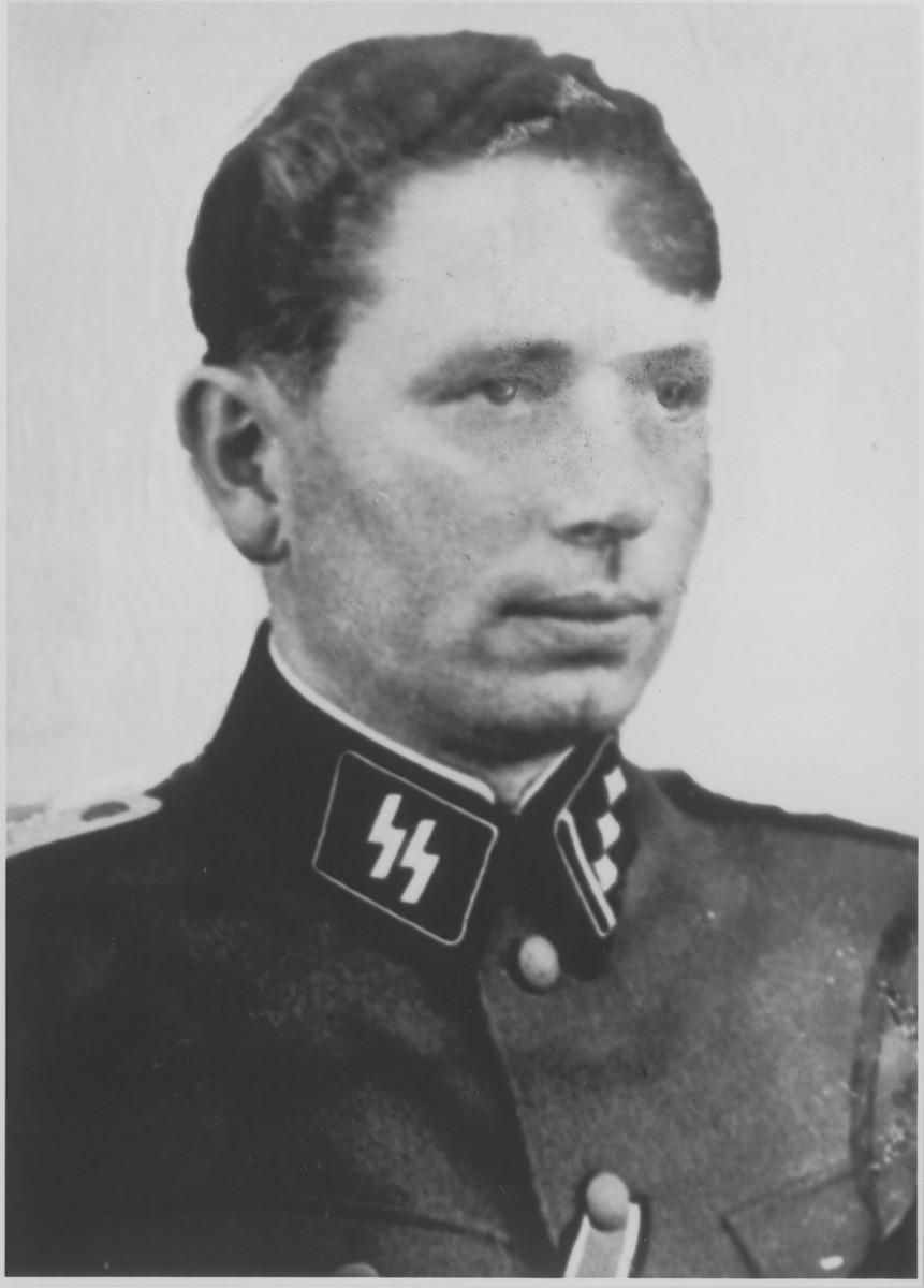 Former Sachsenhausen head doctor Heinz (Heinrich Friedrich) Baumkoetter.