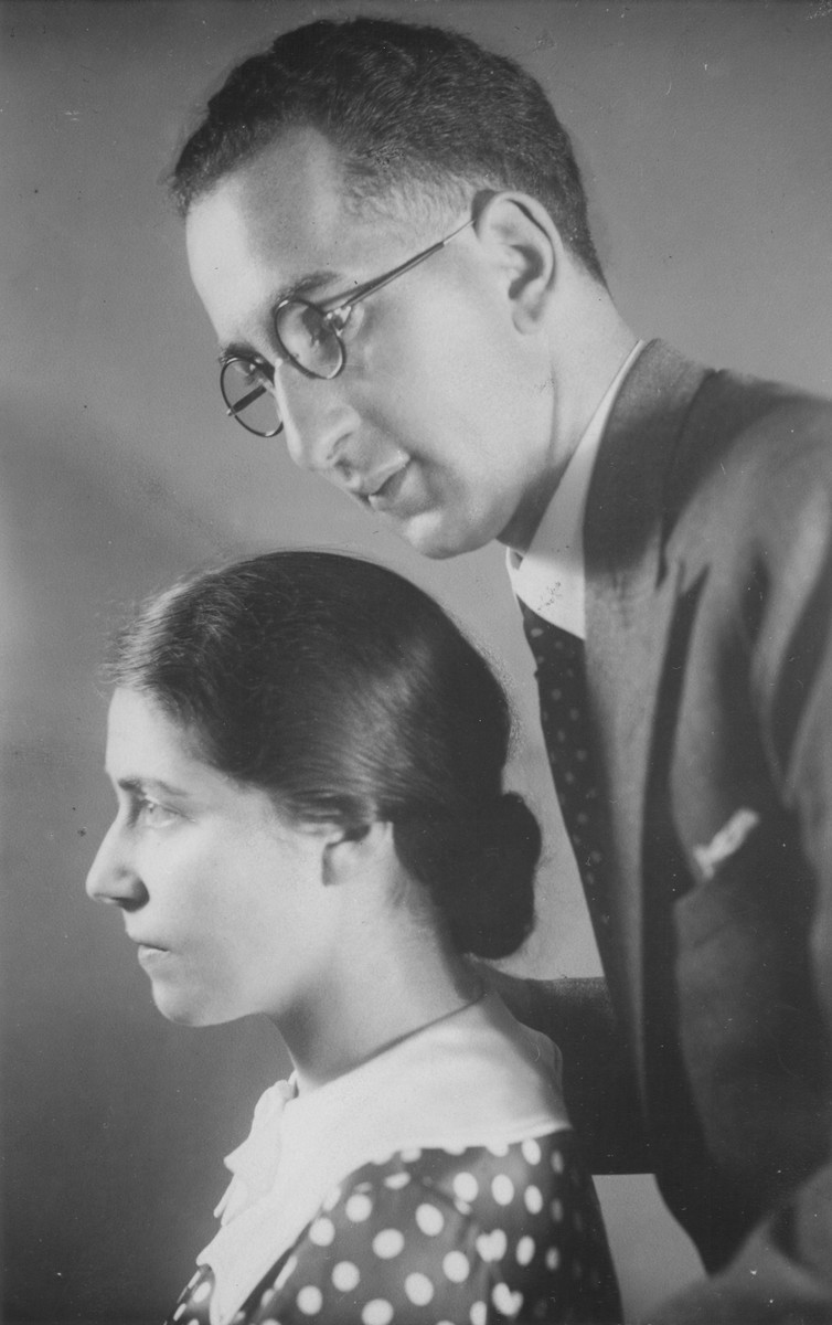 Portrait of Helene and Moritz Schoenberger taken around the time of their marriage.
