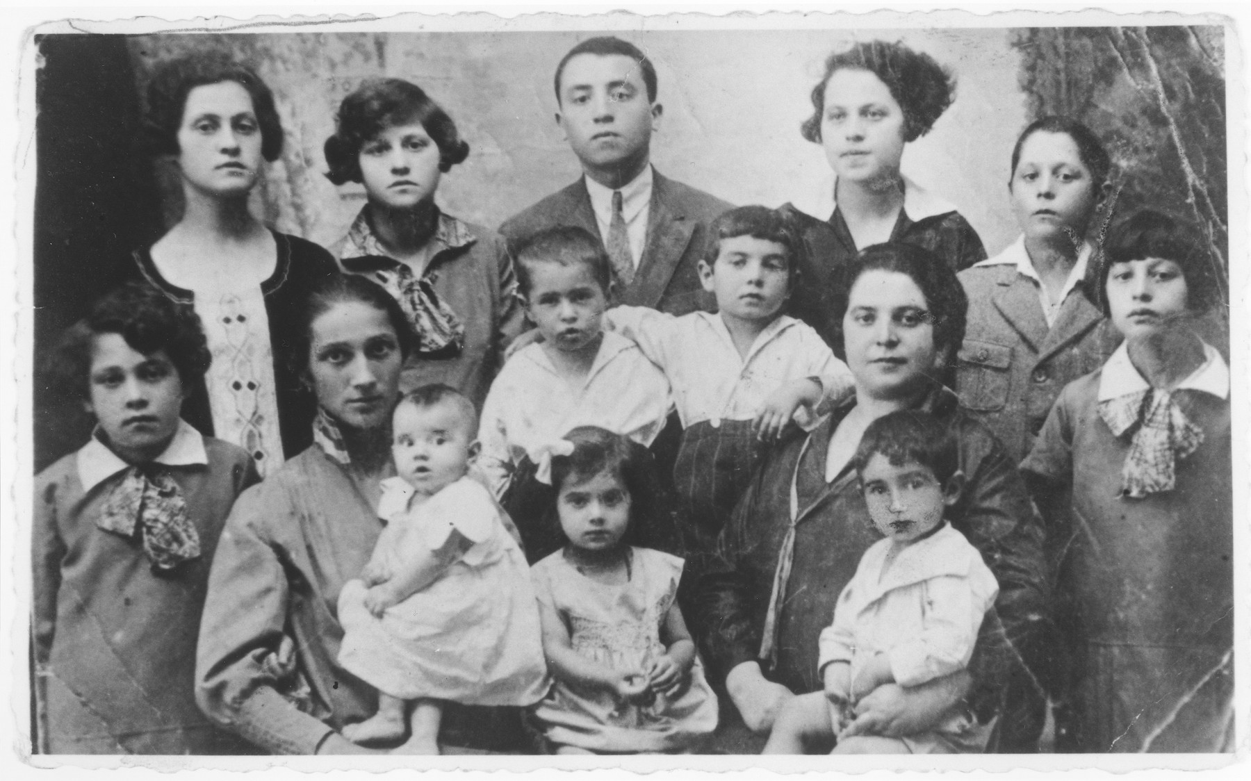 Portrait of the extended Gerstner family in Chrzanow, Poland.