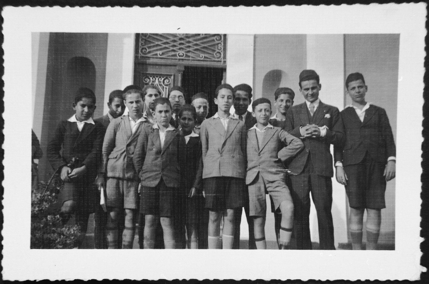 Younger students at the Rabbinical College in Rhodes.