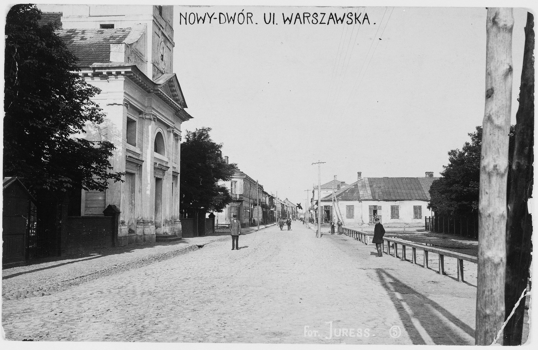 View of the main street of Nowy Dwor.