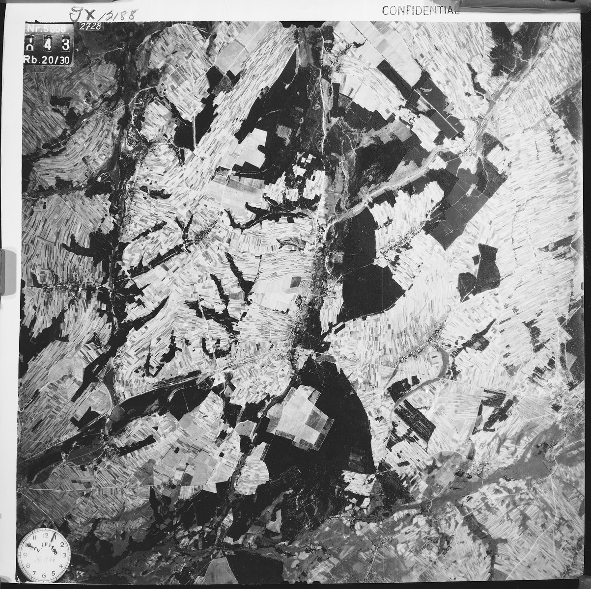 An aerial view of the Belzec area taken by the Luftwaffe during the war.