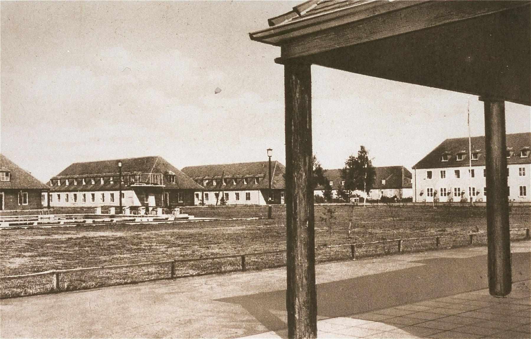 View of the Hitler Youth training center in Braunschweig where Solly Perel spent three years in hiding during World War II.