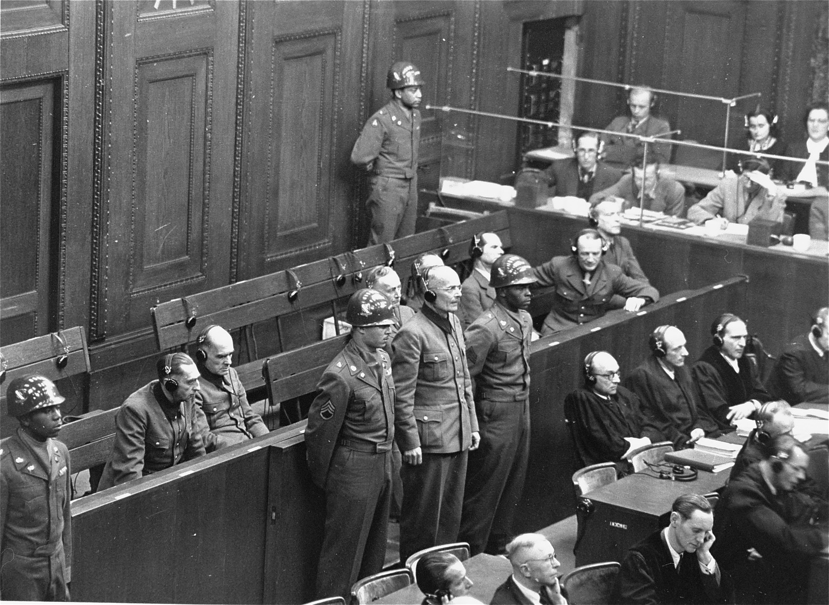 Defendant General Lothar Rendulic is sentenced to twenty years in prison by the Military Tribunal V during the Hostage Case.
