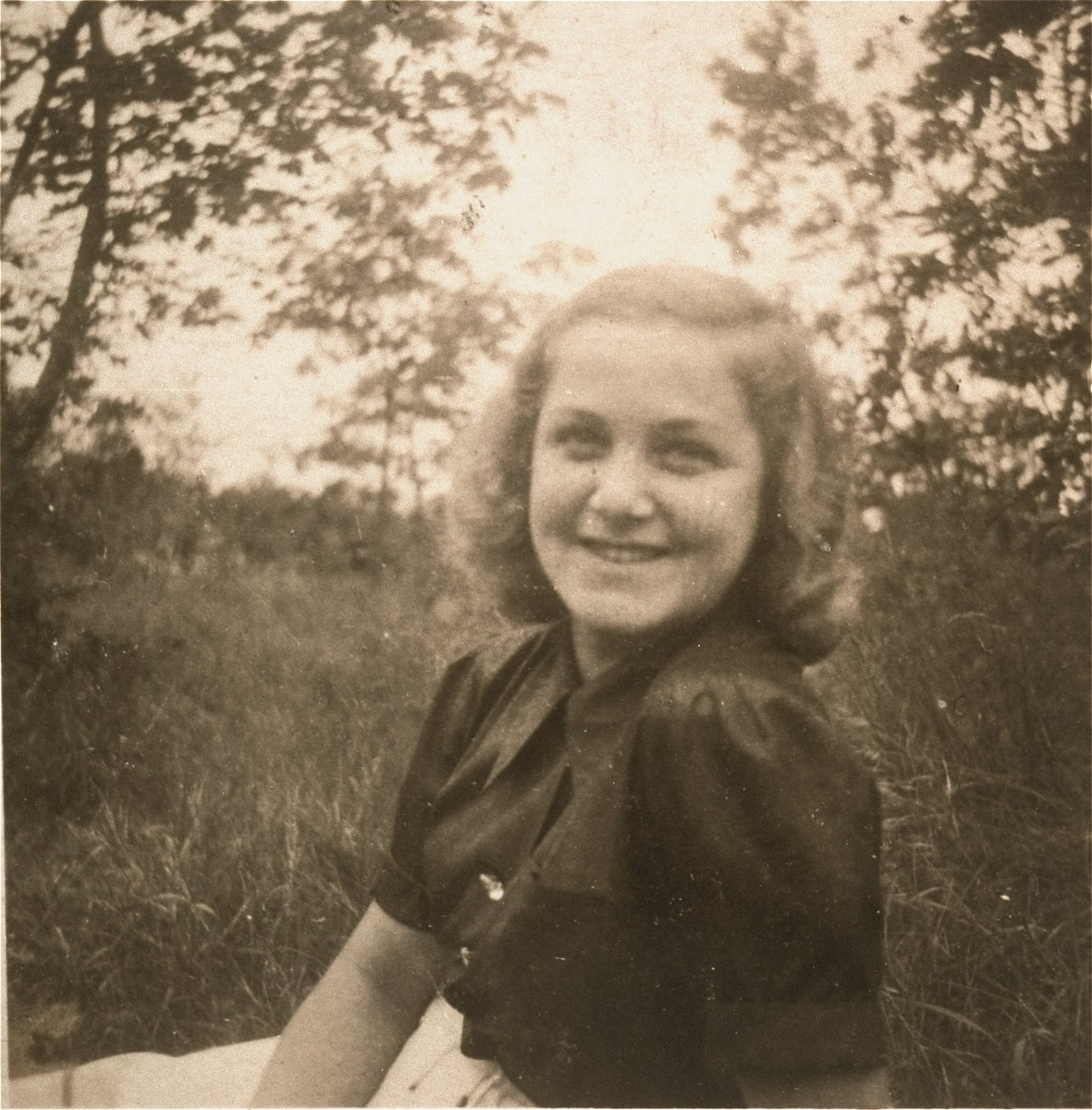 Portrait of a German girl whom Solly Perel dated while living in hiding as a student at the Hitler Youth school in Braunschweig.  Pictured is Leni Latsch, a member of the Bund Deutscher Maedels (League of German Girls).