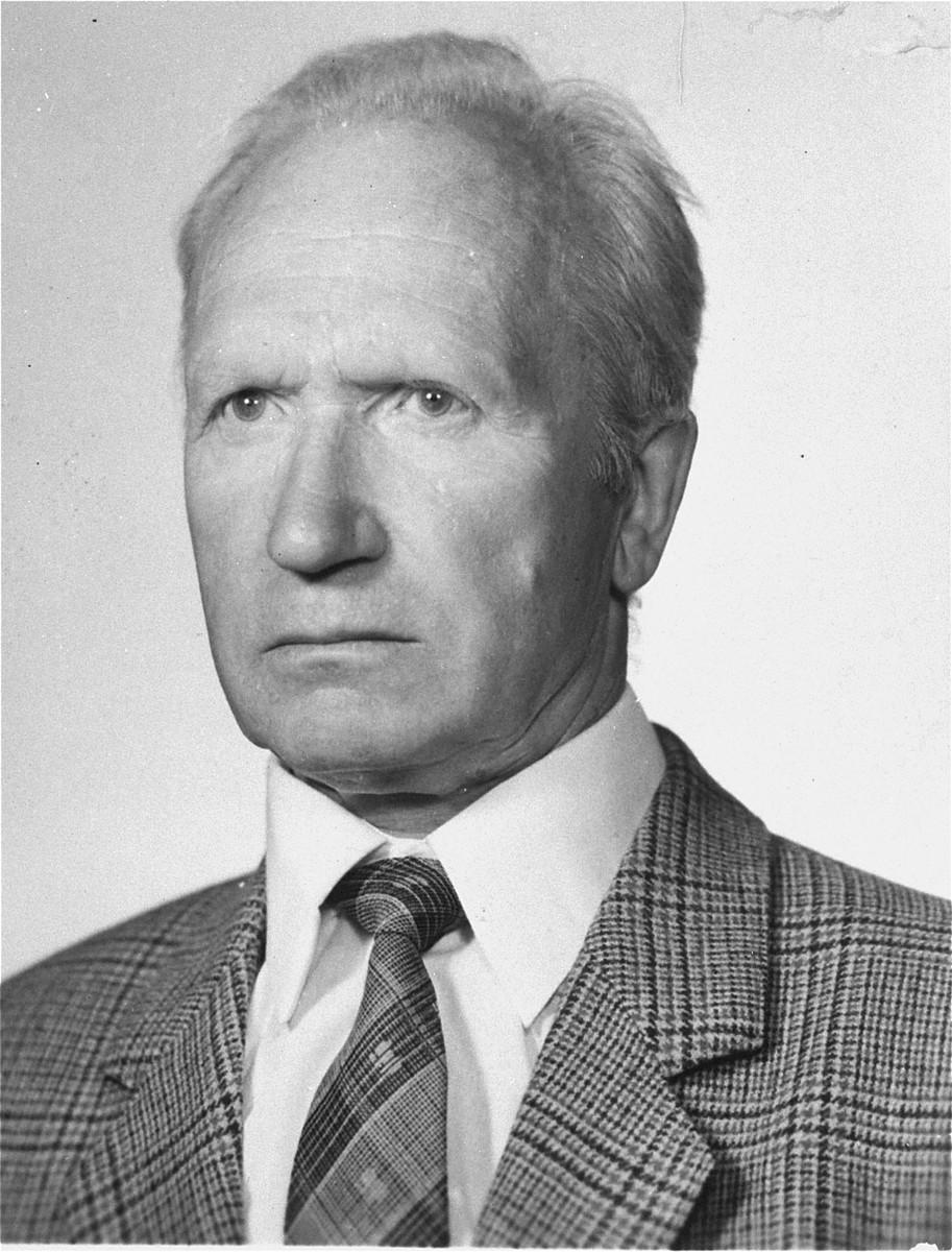 Portrait of Polish rescuer Henryk Grabowski.